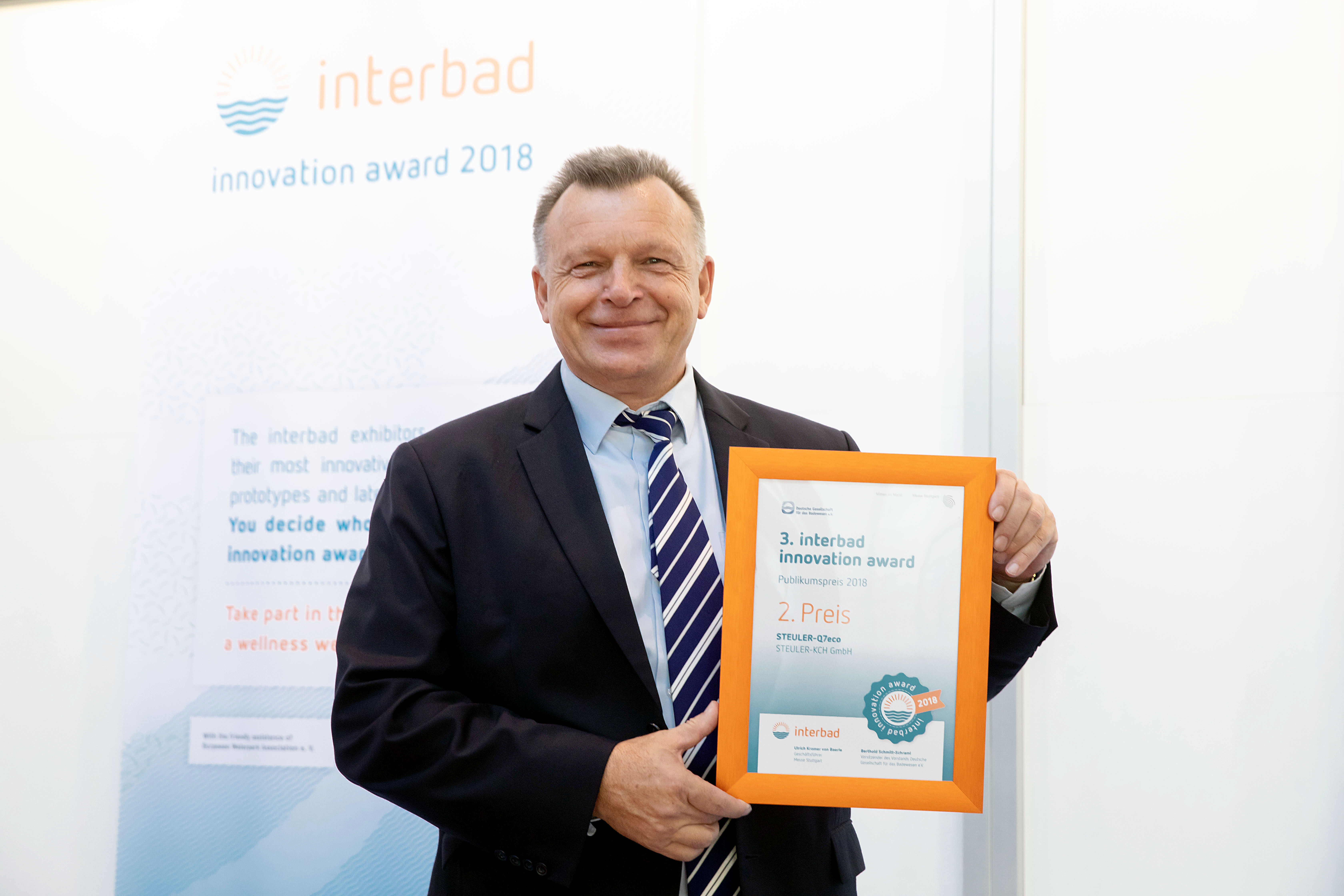 Steuler Schwimmbadbau Innovation Award Interbad 2018