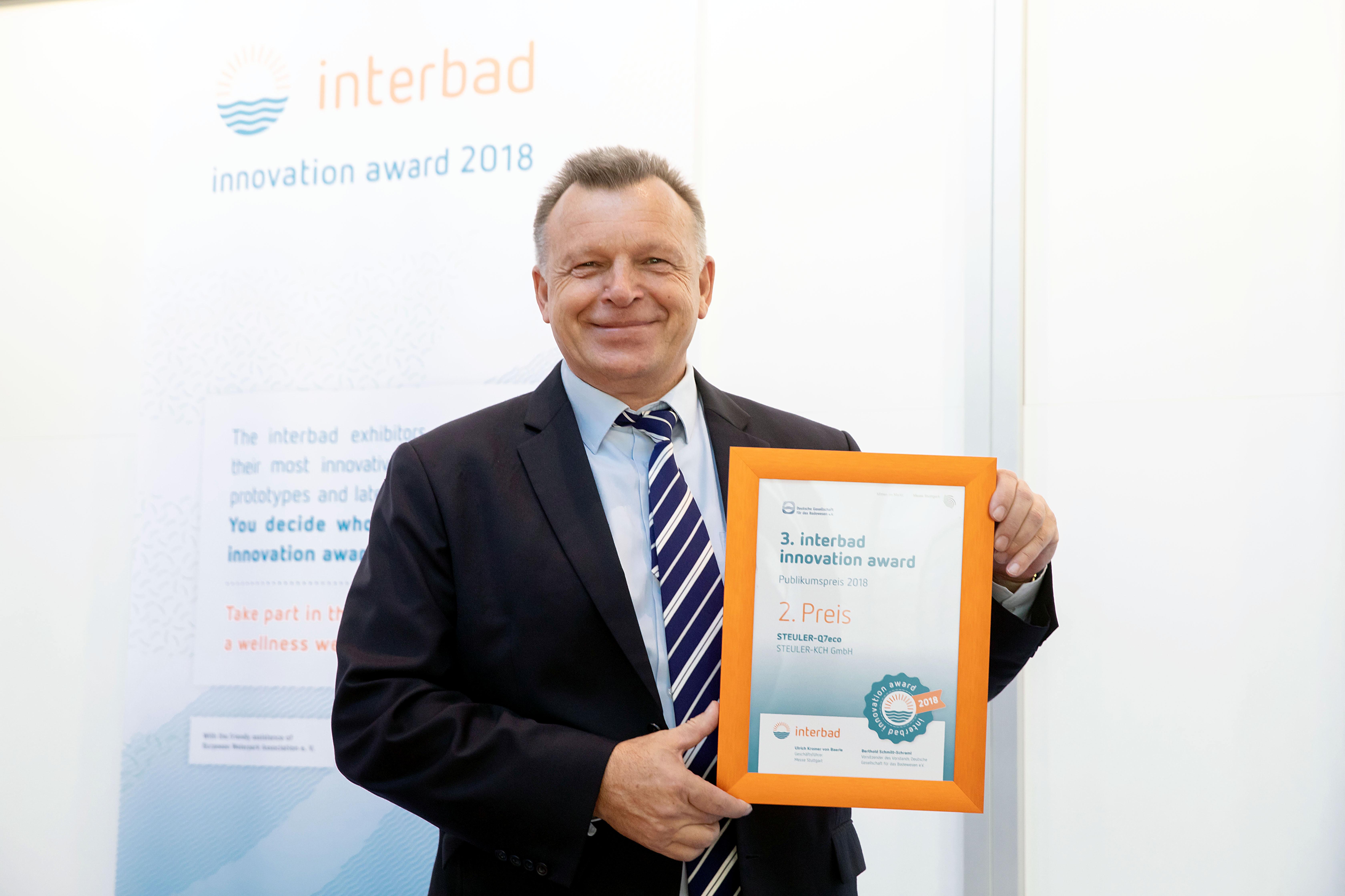 Steuler Schwimmbadbau Innovation Award Interbad 2018