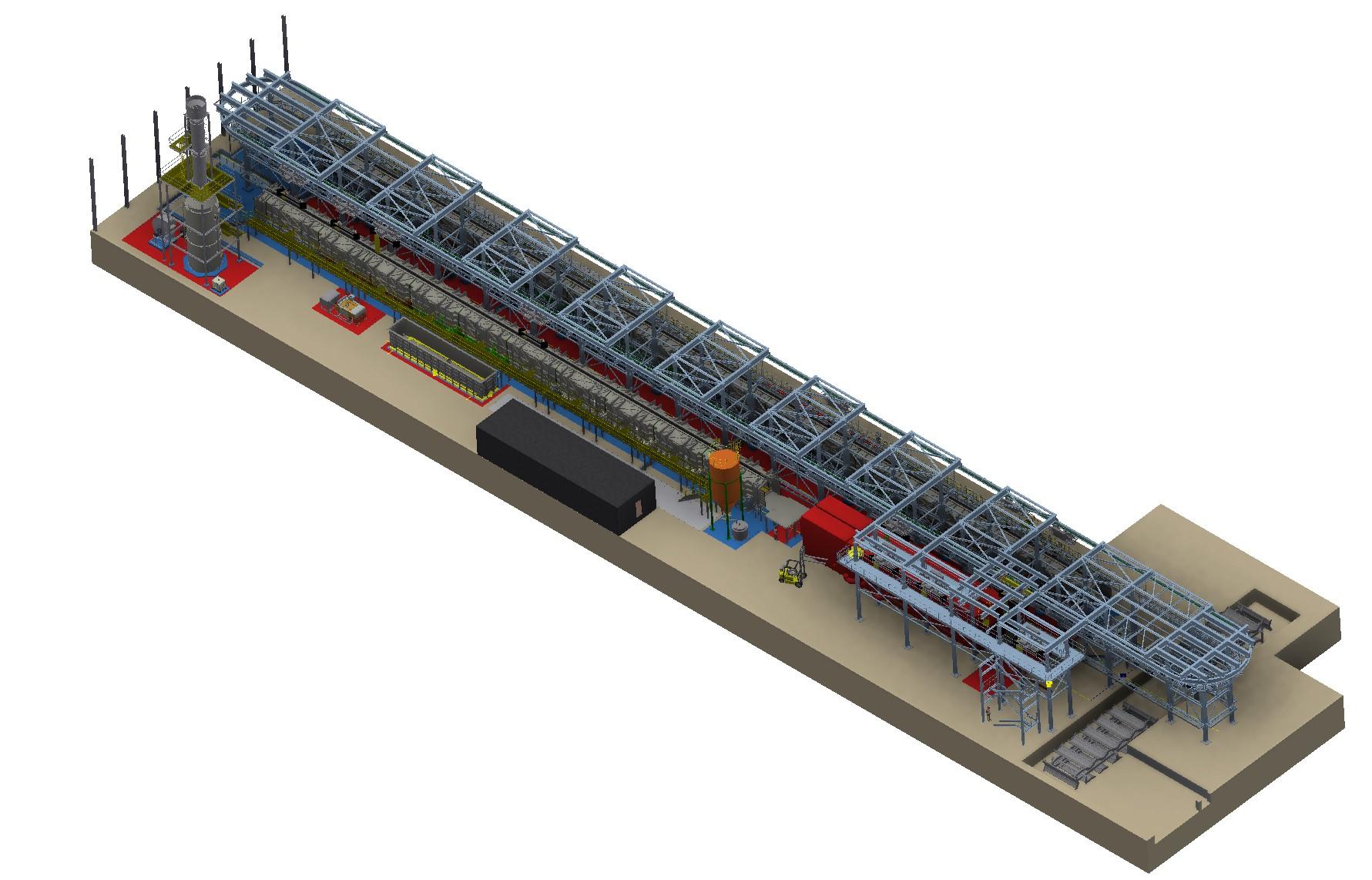 Steuler Anlagenbau plant und baut für WDI die weltweit größte Ringbahnbeizanlage für Stahldrähte.