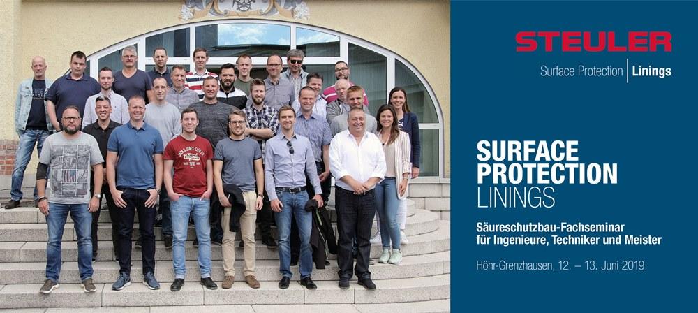 Steuler Linings Fachseminar für BASF-Ingenieure, -Techniker und -Meister zum Thema Säureschutzbau im Juni 2019