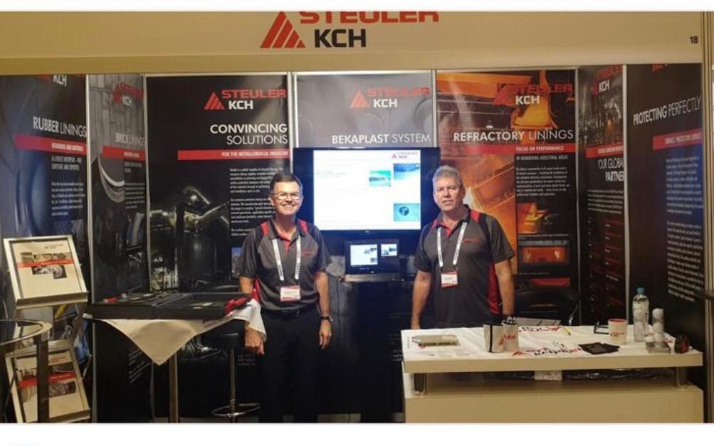 Jim Debenham, technischer Vertriebsleiter mit Schwerpunkt Gummiauskleidungen, und Iain Bennet, Head of STEULER-KCH Australia Pty. Ltd