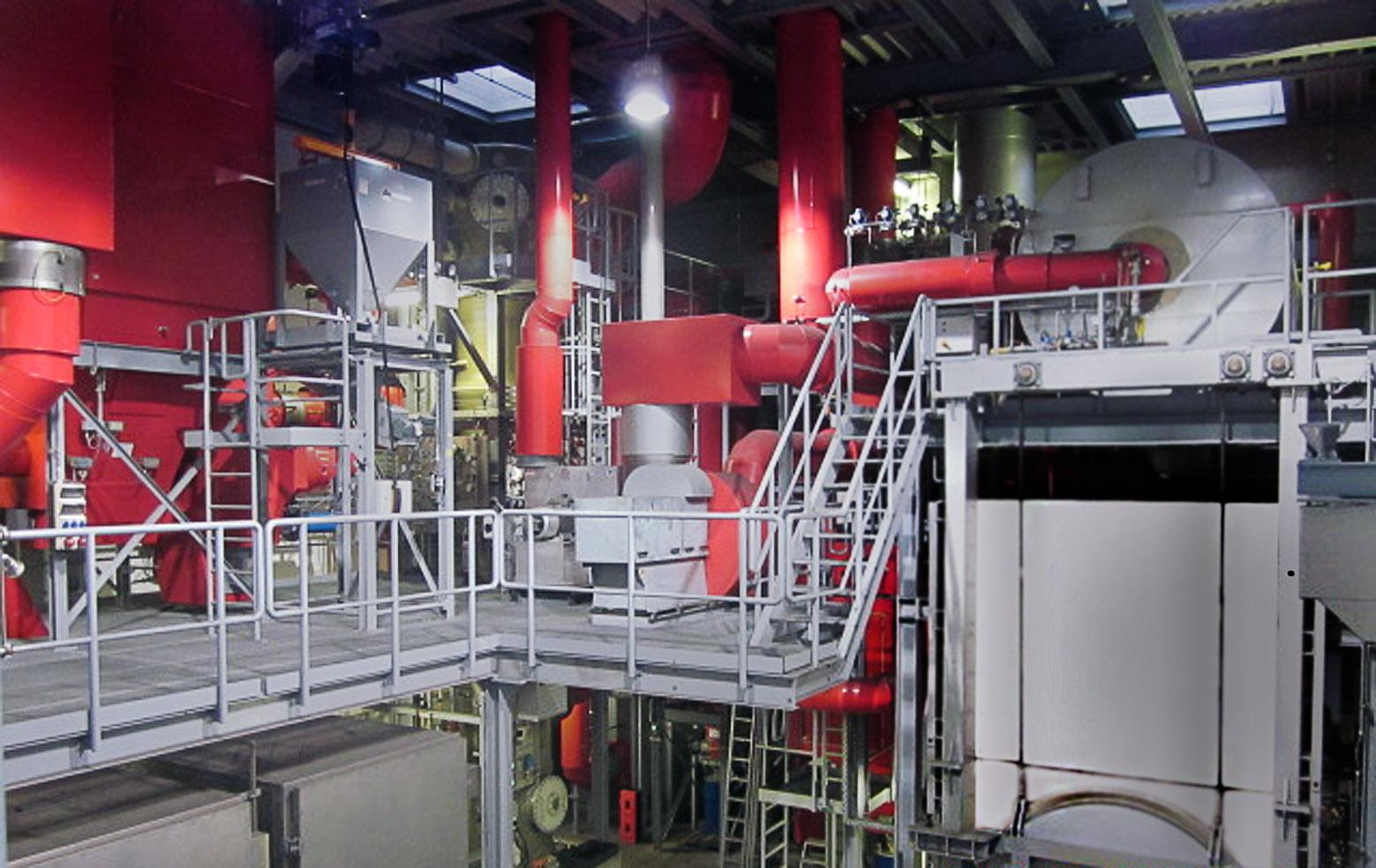 Eine Abgasreinigungsanlage auf einem Seeschiff ist nicht klein, lässt sich aber in einem geräumigen Schiffsrumpf problemlos unterbringen.