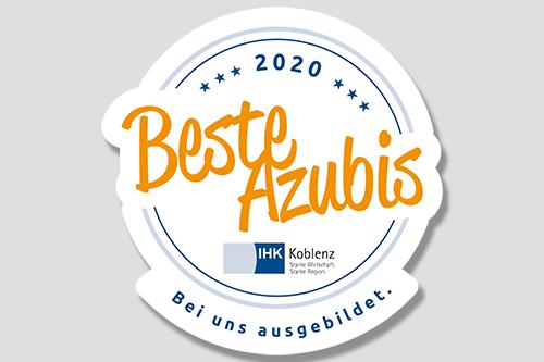 """Siegel """"Beste Azubis 2020"""" an Ausbildungsbetriebe der Region geht an Steuler"""