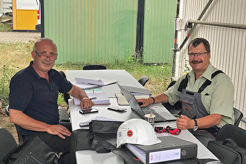 Projektmeeting: Arnold Massoth (links) und Ralf Kleinwechter (rechts)
