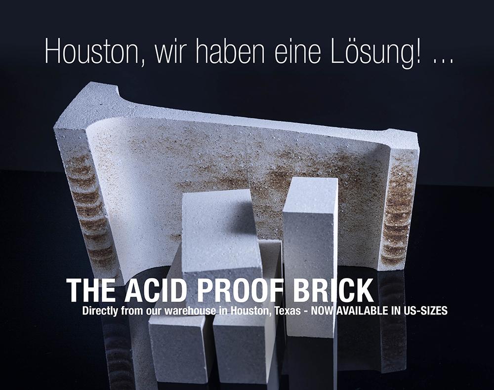 Sichere und schnelle Lieferung von Säurefesten Steinen jetzt in den USA vor Ort.