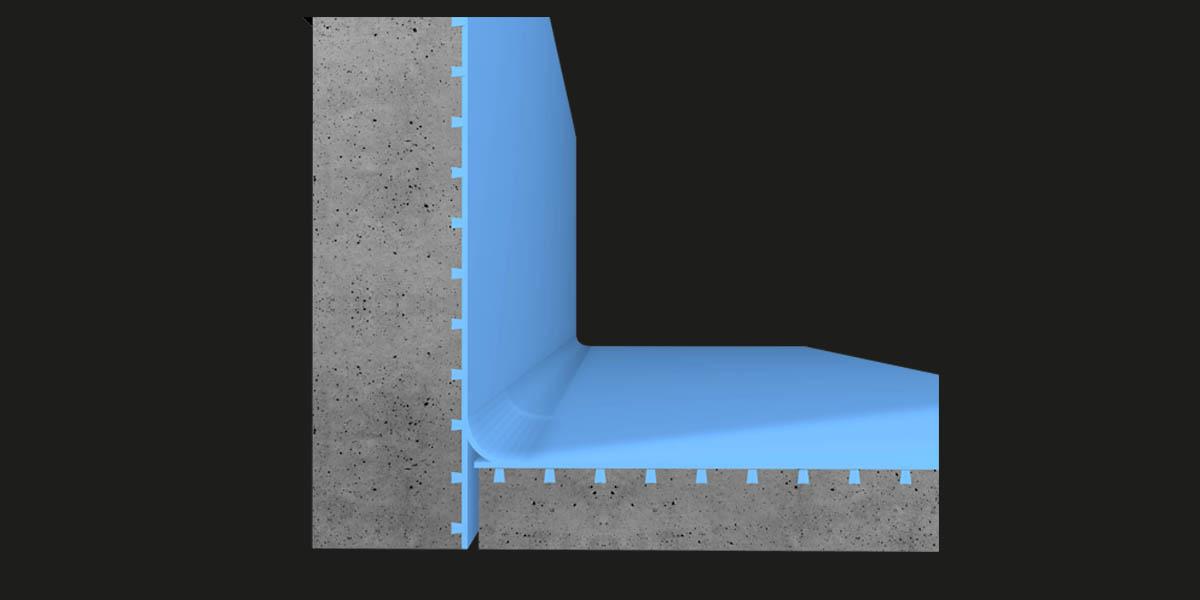 Waterproof junctions between individual floor/wall elements