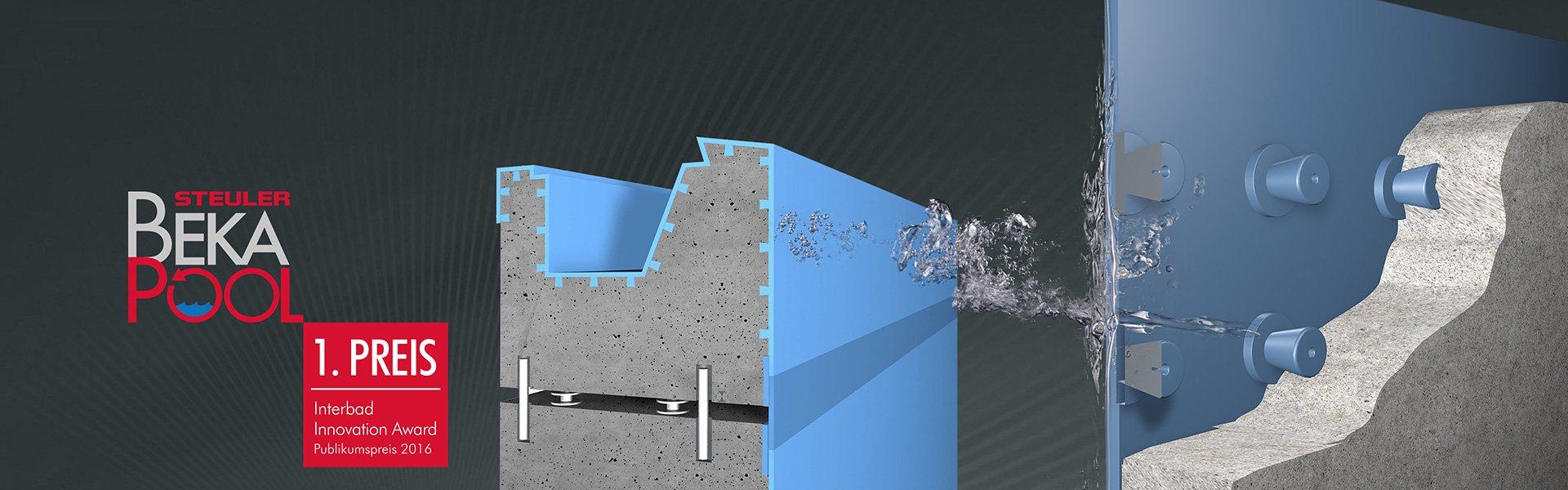 Bekapool Steuler Pool Linings Querschnitt