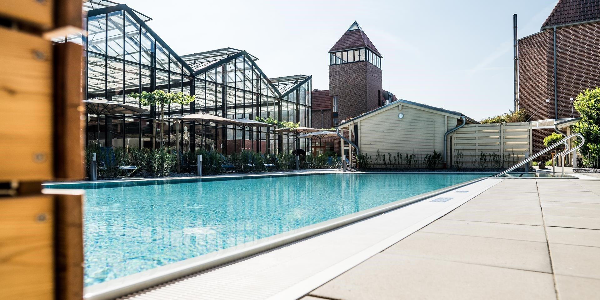 Außenbecken Jammertal Resort Datteln