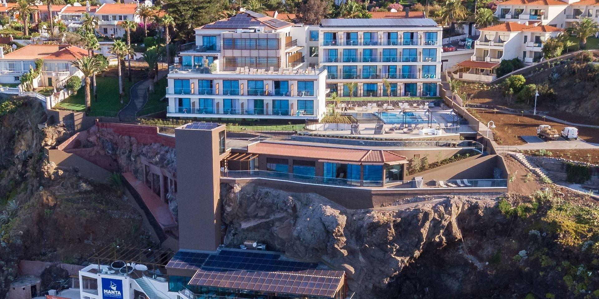 Steuler Pool Linings Galomar Hotel Aerial detail