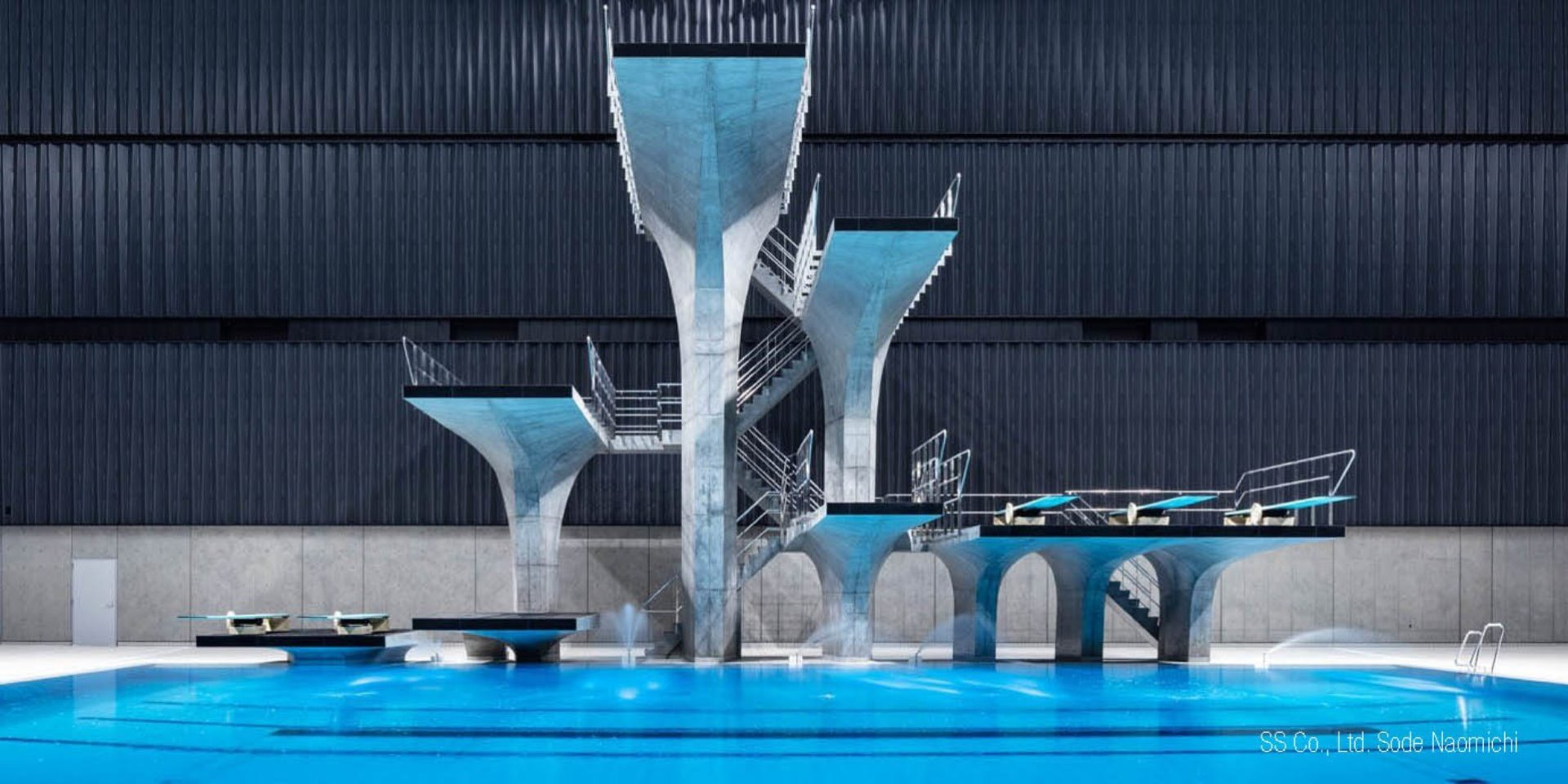 Tokyo Olympic diving platforms Steuler Pool