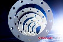 Losflansche aus glasfaserverstärktem Kunststoff in verschiedenen Größen zum dichten Verbinden von Rohren.