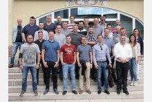Gruppenbild BASF-Fachtagung für Ingenieure, Techniker und Meister zum Thema Säureschutzbau.