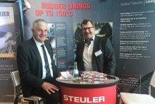 Steuler Linings Messestand auf der Firmenmesse auf dem kraftwerkstechnischen Kolloquium in Desden 2019