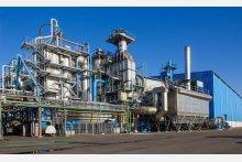 Komplette Rauchgasreinigungsanlage nach einer Sondermüllverbrennungsanlage mit Abhitzekessel und Dampfturbine